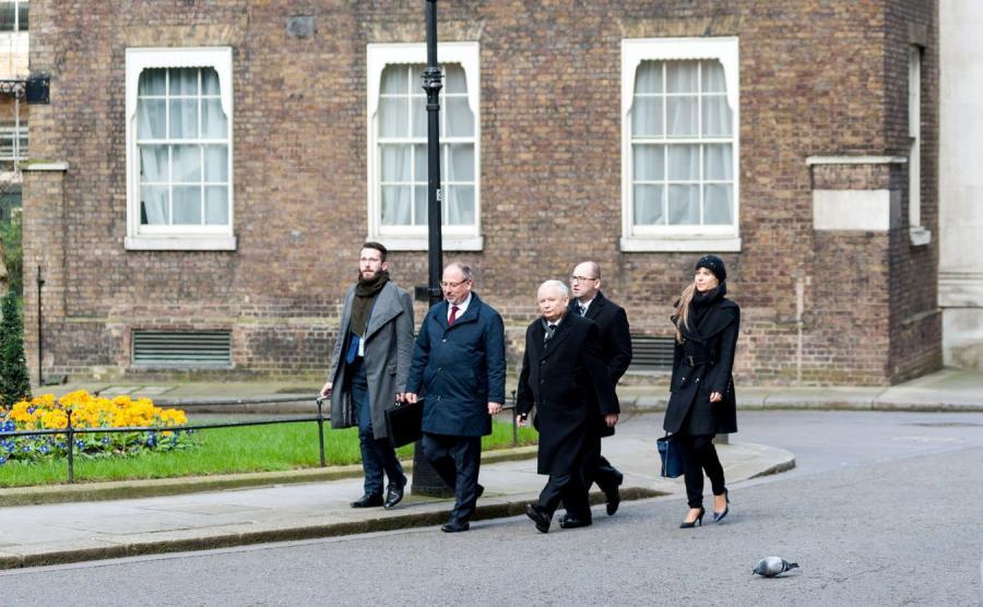 Jarosław Kaczyński w Londynie