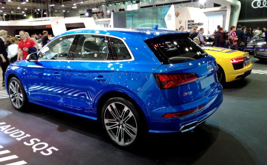 Oparcie tylnej kanapy w Audi SQ5 jest podzielone na trzy segmenty. Na życzenie kanapę można przesuwać do przodu i do tyłu oraz zmieniać kąt pochylenia oparcia. Zależnie od pozycji ustawienia tylnej kanapy, bagażnik ma pojemność bazową od 500 do 610 litrów. Po złożeniu oparcia, pojemność bagażnika wzrasta do 1550 l