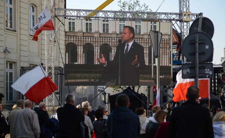 Uroczystości przed Pałacem Prezydenckim
