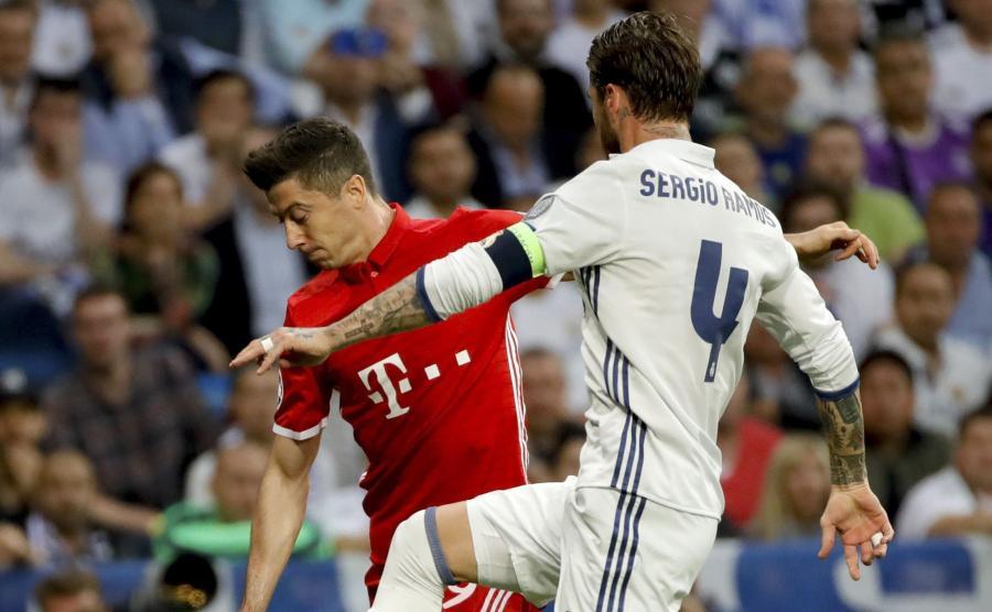 Sergio Ramos i Robert Lewandowski