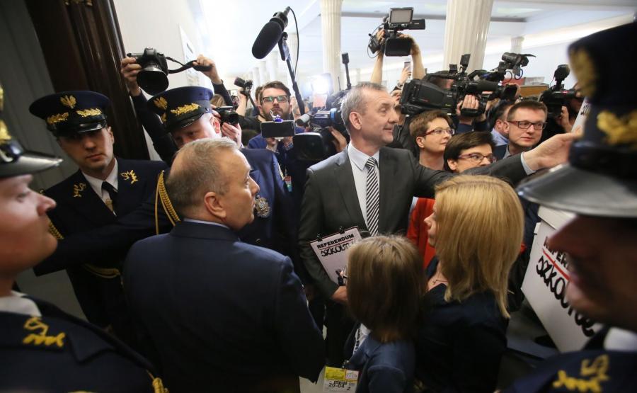 Sławomir Broniarz, Grzegorz Schetyna