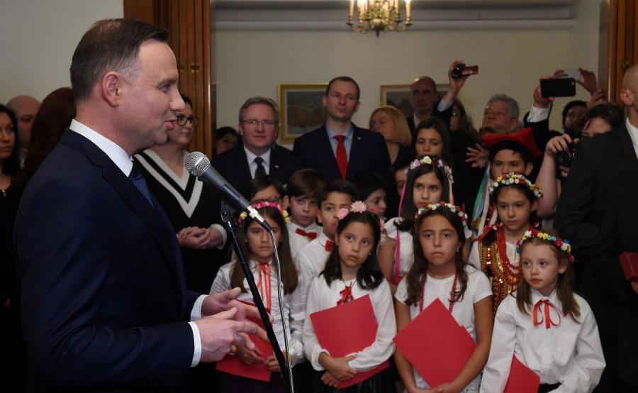 Andrzej Duda na spotkaniu z Polonią
