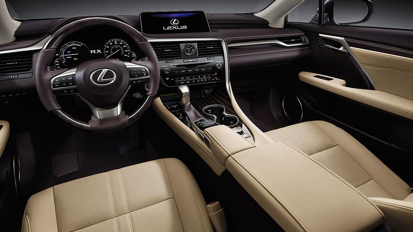 Wnętrze Lexusa RX