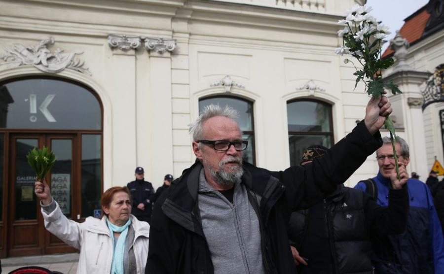 Lider ruchu Obywatele RP Paweł Kasprzak