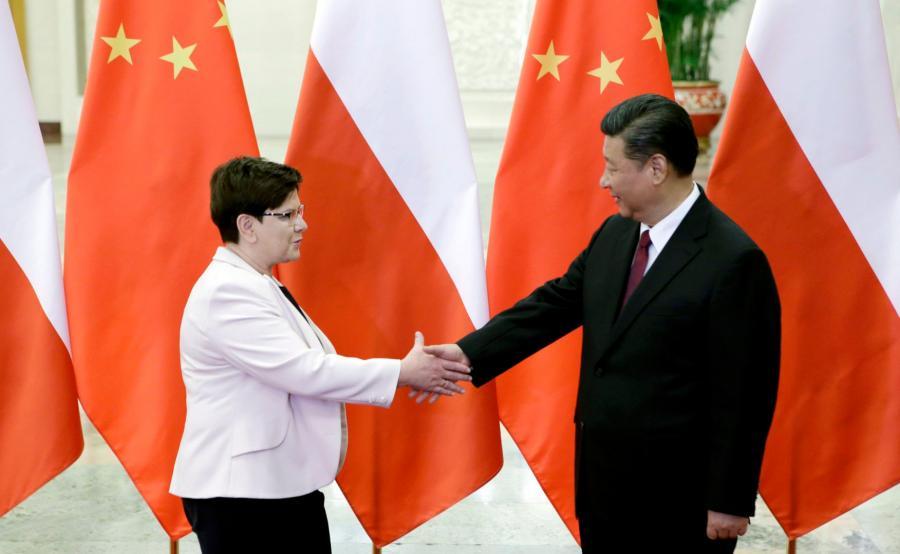 Premier Beata Szydło i prezydent Xi Jinping