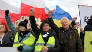Obywatele RP na manfestacji we Wrocławiu