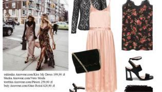 Slip dress. STYLIZACJE