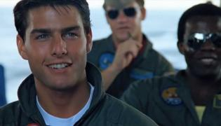 "Tom Cruise w filmie ""Top Gun"""