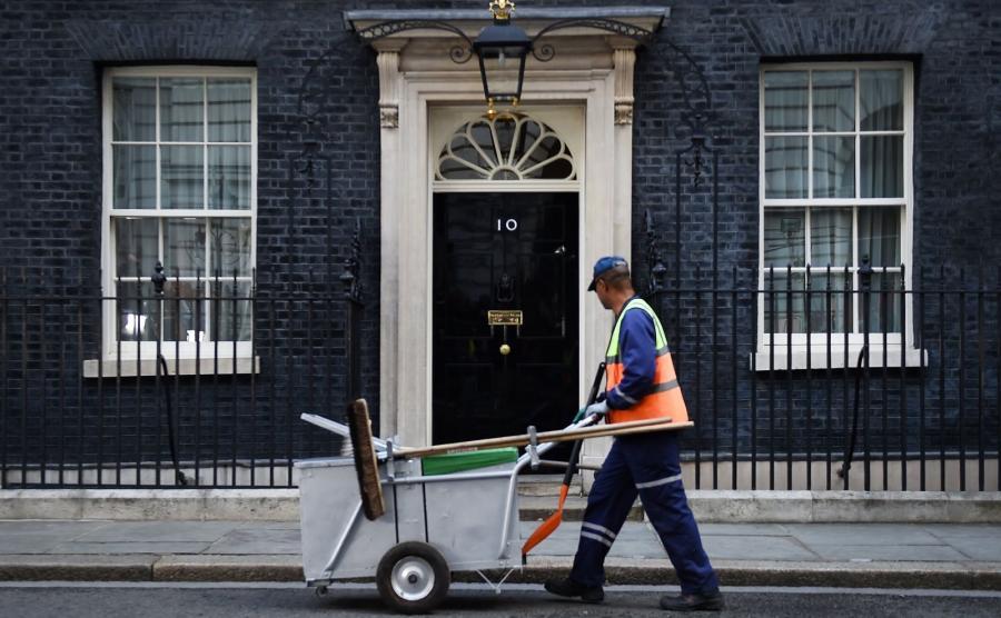 Downing Street 10 w Londynie