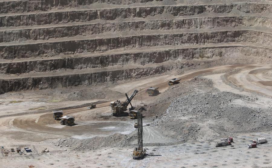 Kopalnia odkrywkowa w Sierra Gorda w Chile, należąca do KGHM