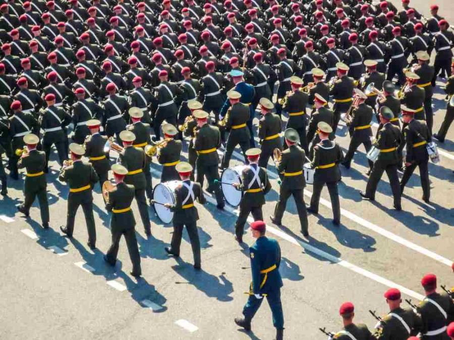 Rosja wojsko defilada