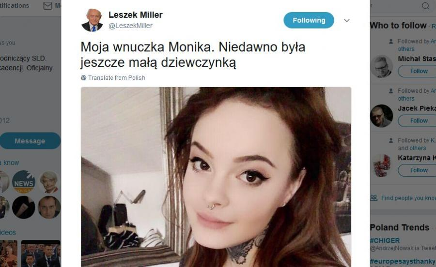 Wnuczka Leszka Millera