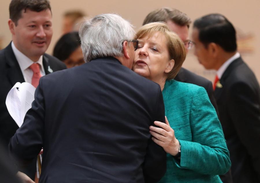 Angela Merkel i Juncker