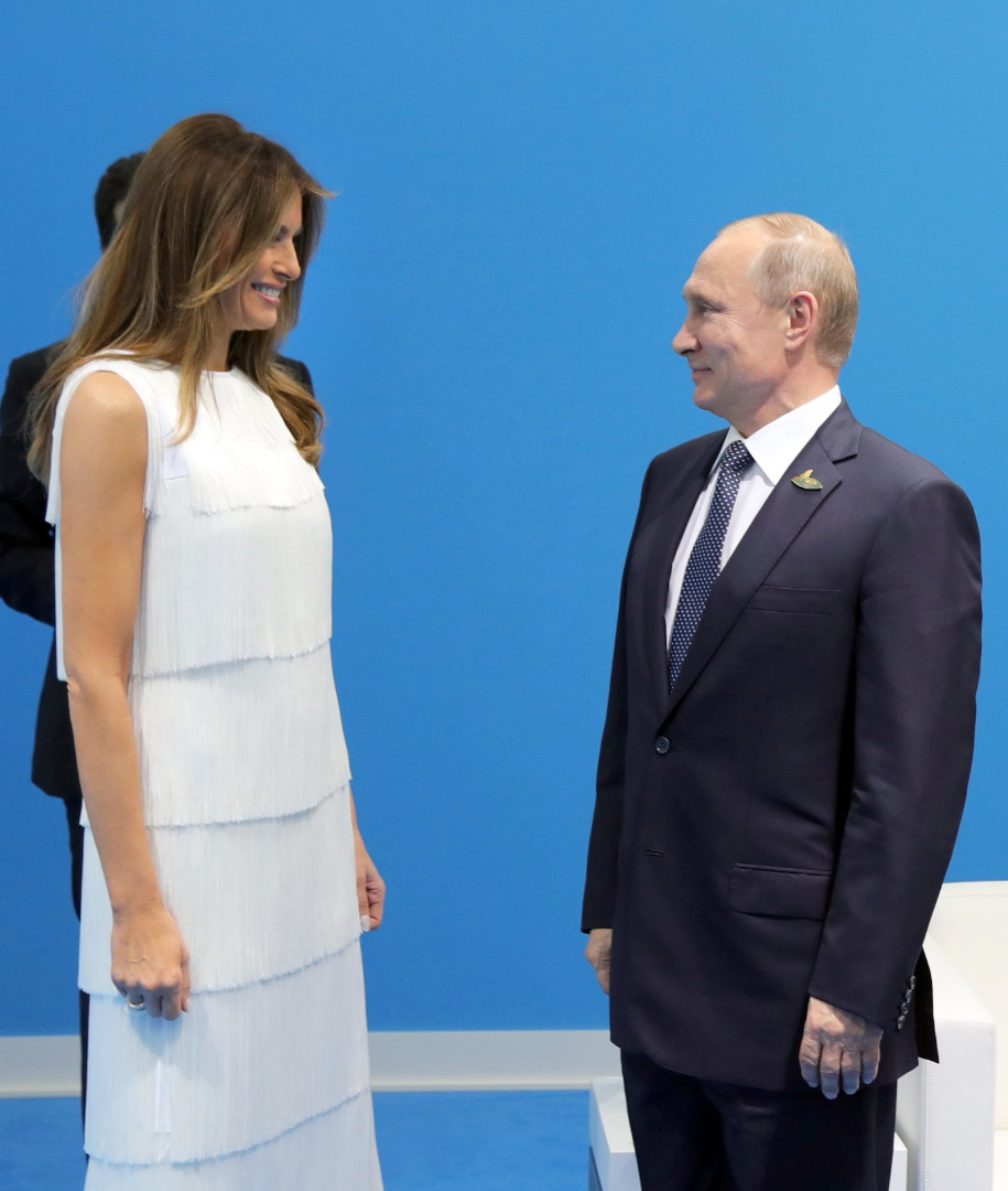Melania Trump i Władimir Putin