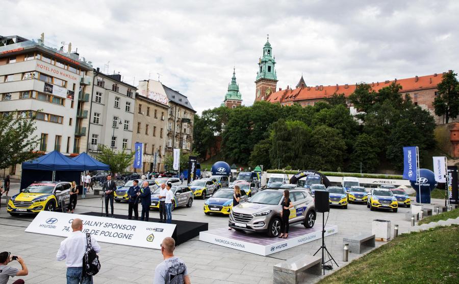 Hyundai dostarczył 57 samochodów do obsługi logistycznej tegorocznego Tour de Pologne