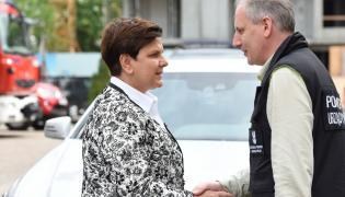 Premier Beata Szydło i wojewoda Dariusz Drelich