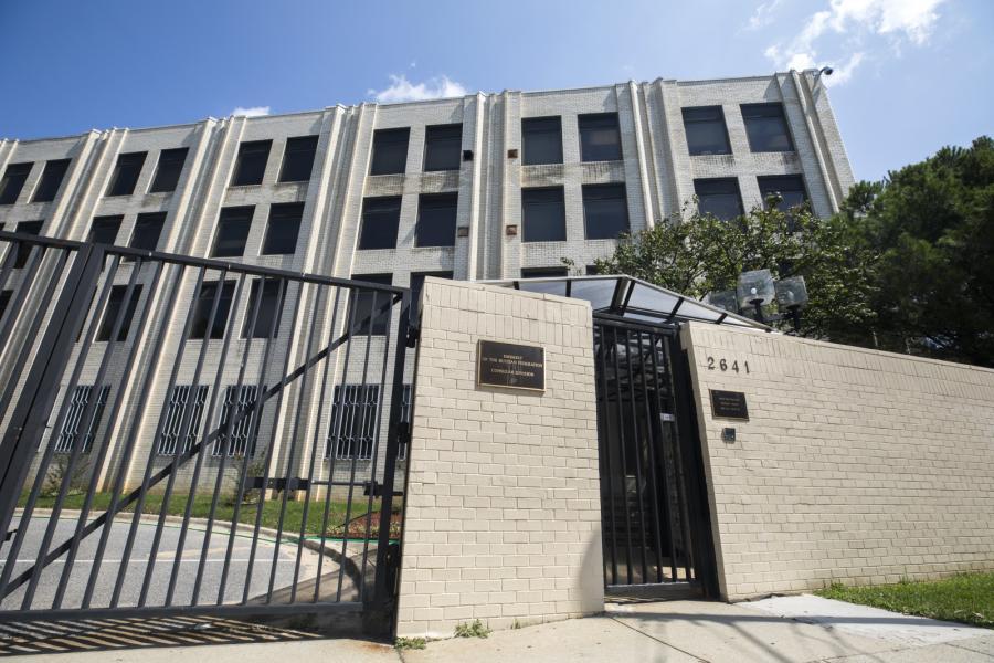 Zamknięty rosyjski budynek dyplomatycznych w Waszyngtonie