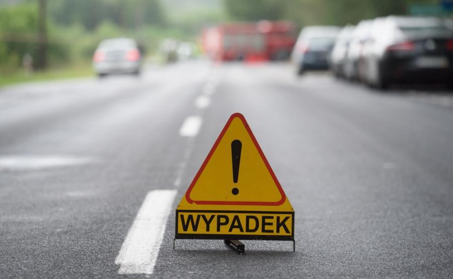 Oznakowanie miejsca wypadku drogowego