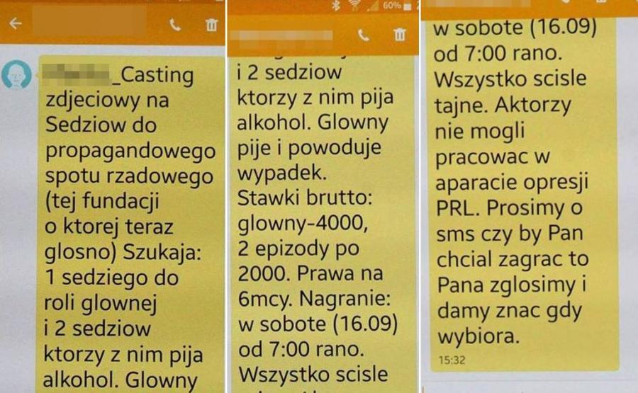SMS-owa rekrutacja do roli sędziego, który pod wpływem alkoholu powoduje wypadek