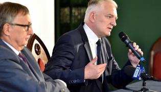 Minister Jarosław Gowin oraz rektor Uniwersytetu Jagiellońskiego prof. Wojciech Nowak