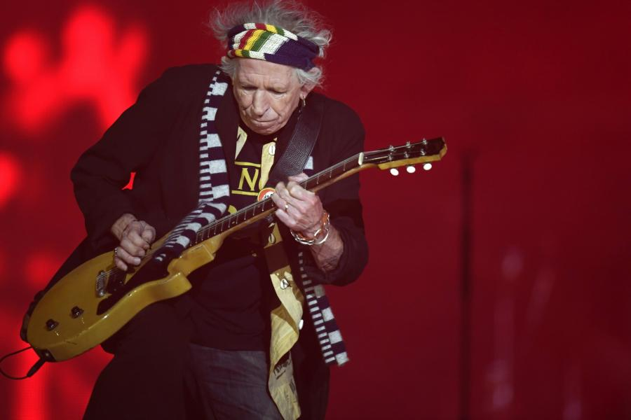 Keith Richards podczas koncertu The Rolling Stones w Zurychu, 20.09.2017