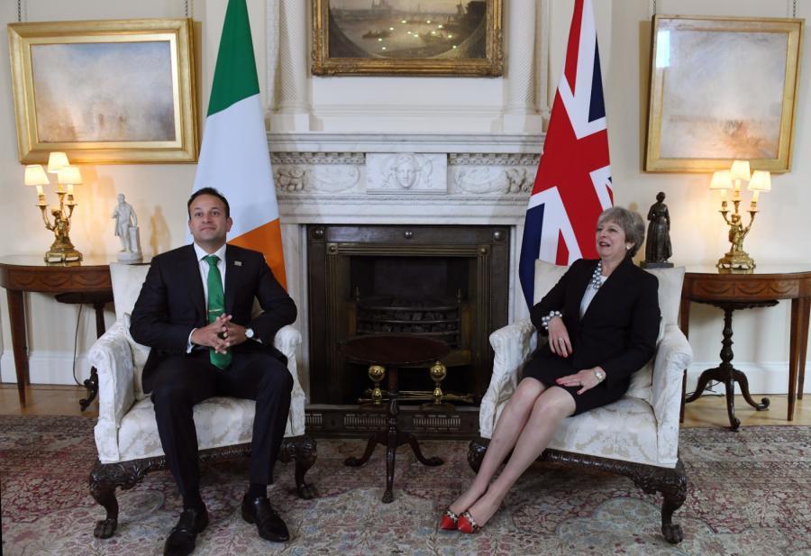 Premier Irlandii Leo Varadkar i szefowa brytyjskiego rządu Theresa May