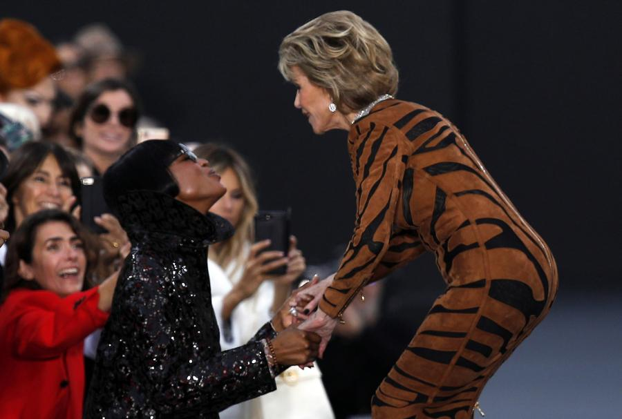 Jane Fonda i Naomi Campbell