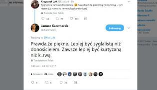 Twitterowy dialog