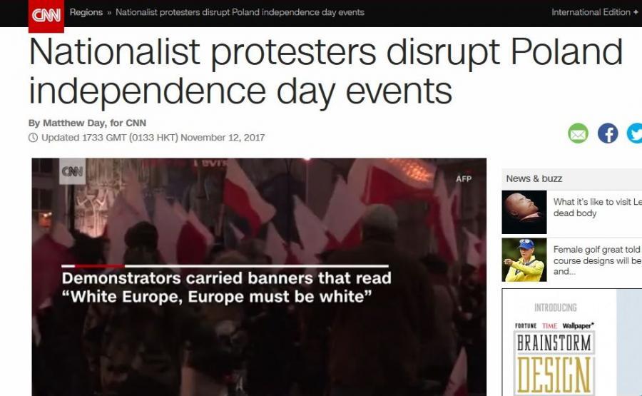 CNN o Marszu Niepodległości