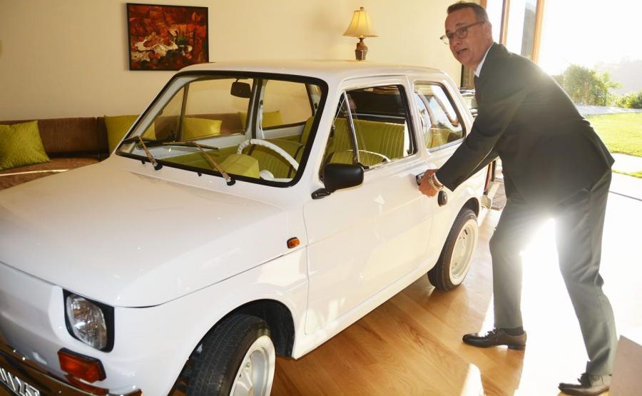 Tom Hanks i Fiat 126p. \