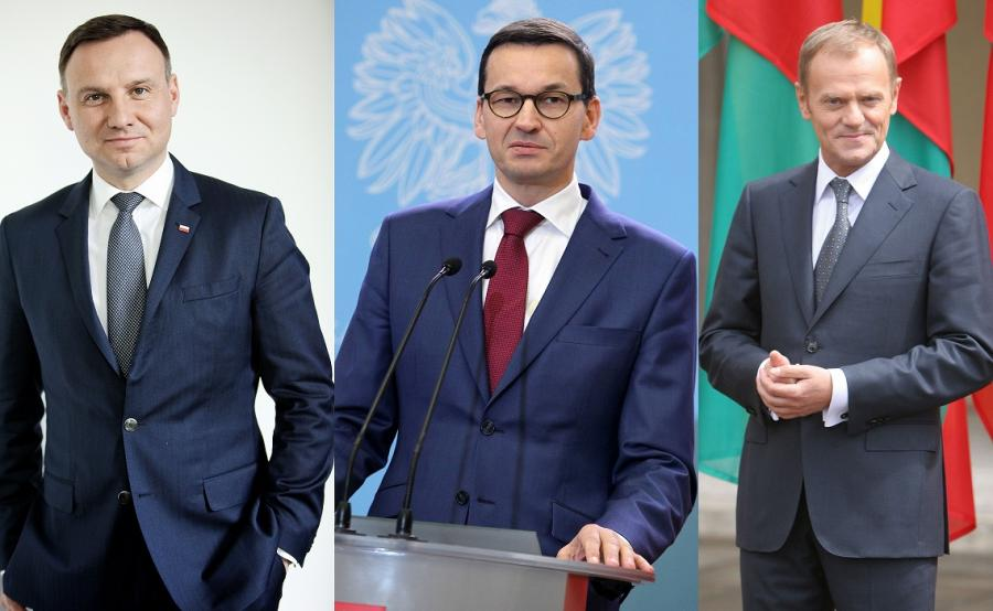 Andrzej Duda, Mateusz Morawiecki, Donald Tusk
