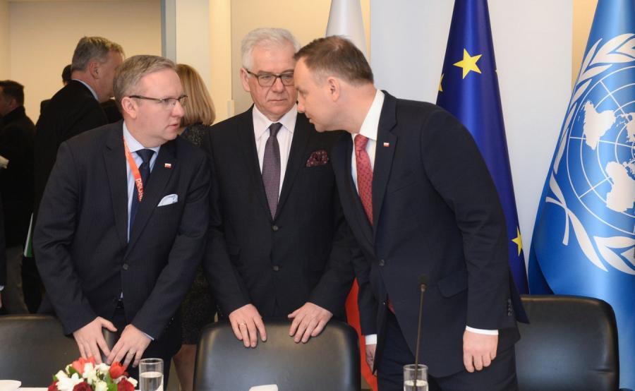Krzysztof Szczerski, Jacek Czaputowicz i Andrzej Duda
