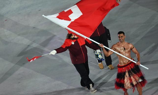 Pjongczang 2018: Półnagi sportowiec jedną z największych atrakcji ceremonii otwarcia igrzysk