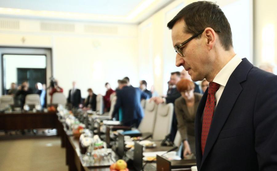 Posiedzenie rządu, premier Mateusz Morawiecki