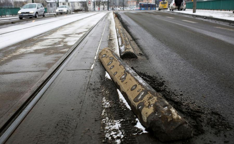Kraków. Miejsce wypadku prezydenckiej limuzyny
