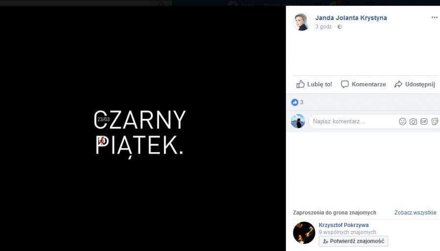 Czarny piątek - Krystyna Janda