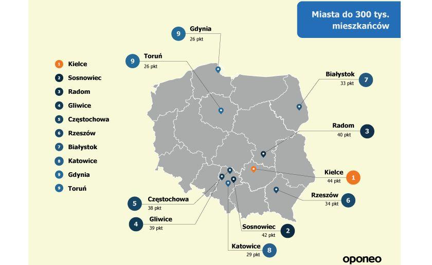 Miasta do 300 tys. mieszkańców