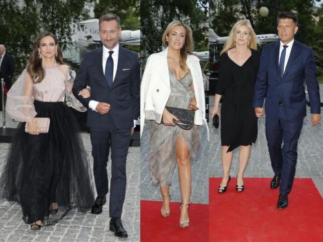 Kinga Rusin i Piotr Kraśko, Karolina Ferenstein-Kraśko oraz Joanna Schmidt i Ryszard Petru