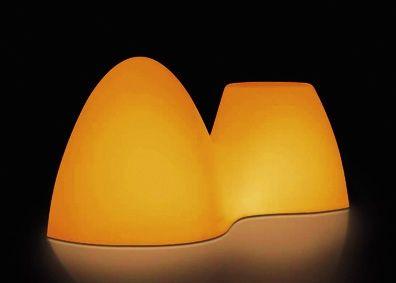 Lampa i taboret w jednym