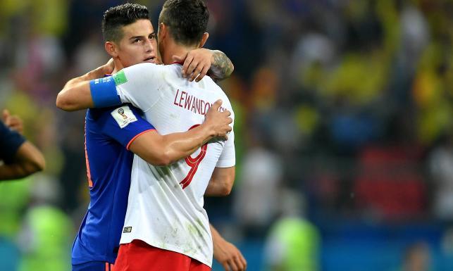 Lewandowski po porażce z Kolumbią zachował się z wielką klasą