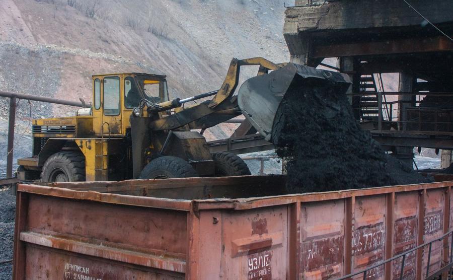 Transport węgla z kopalni na Ukrainie