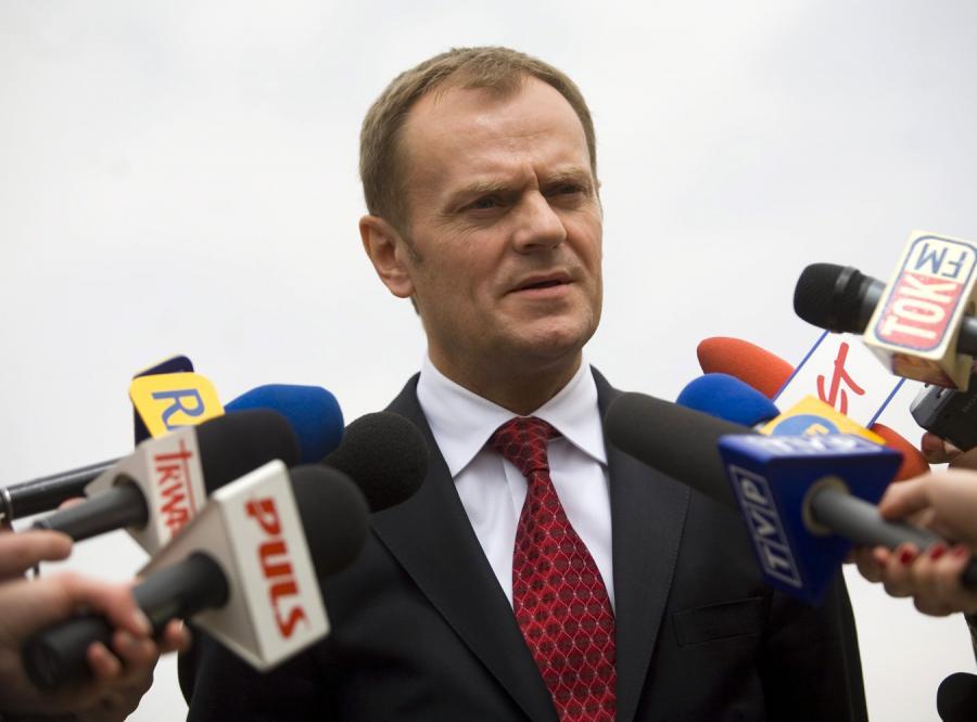 Tusk w Olsztynie wylądował jak Gierek
