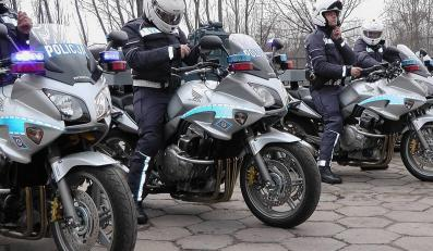 Policjanci na motocyklach