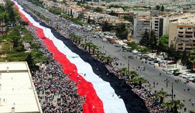 Protest syryjiej opozycji w Damaszku