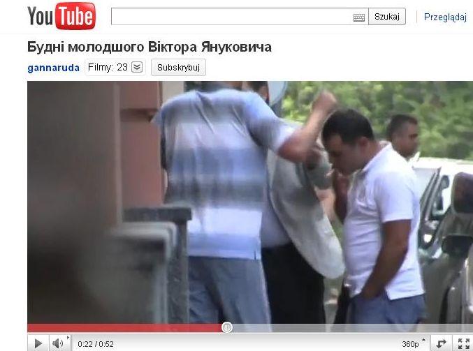 Syn Janukowycza zataczał się przed domem