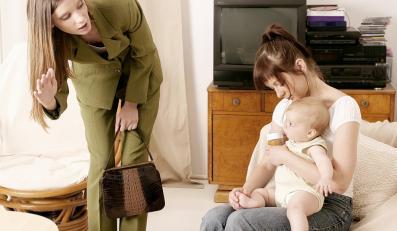 Pierwsze rozstanie z dzieckiem to trudne chwile dla młodej mamy