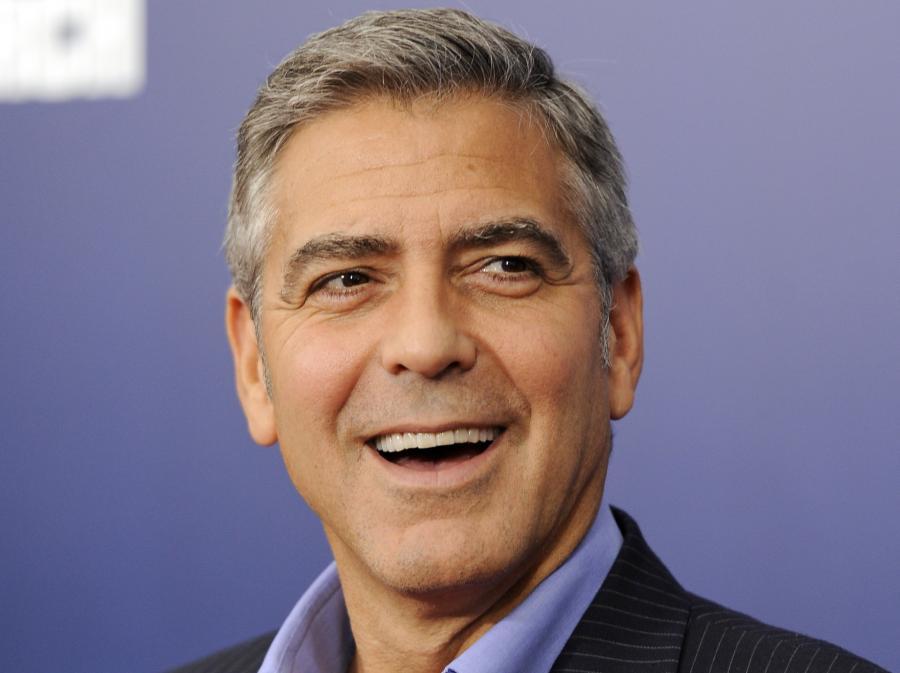 George Clooney na nowojskiej premierze filmu \