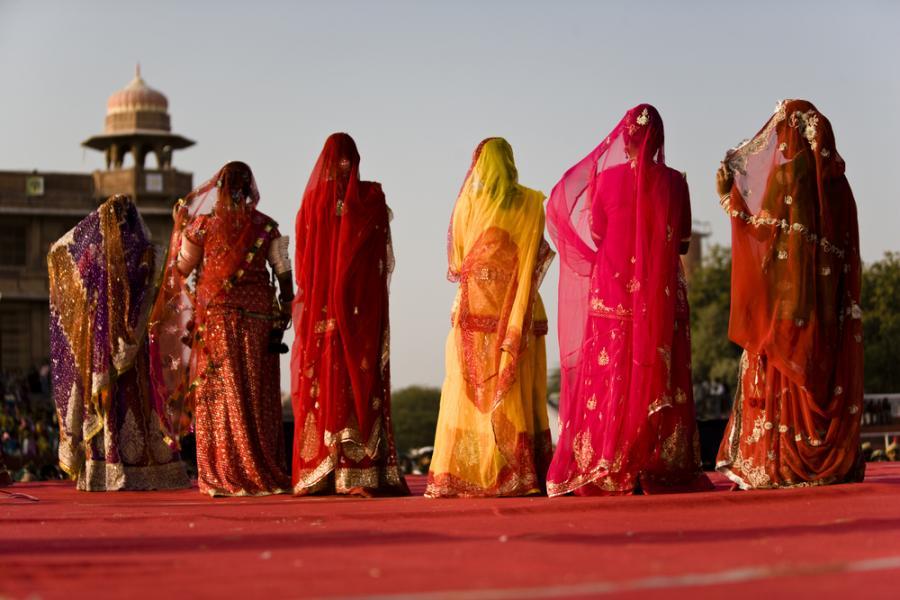 Kobiety w sari.