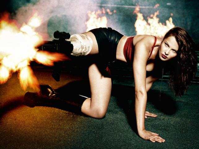 Top Model: sesja filmowe wojowniczki