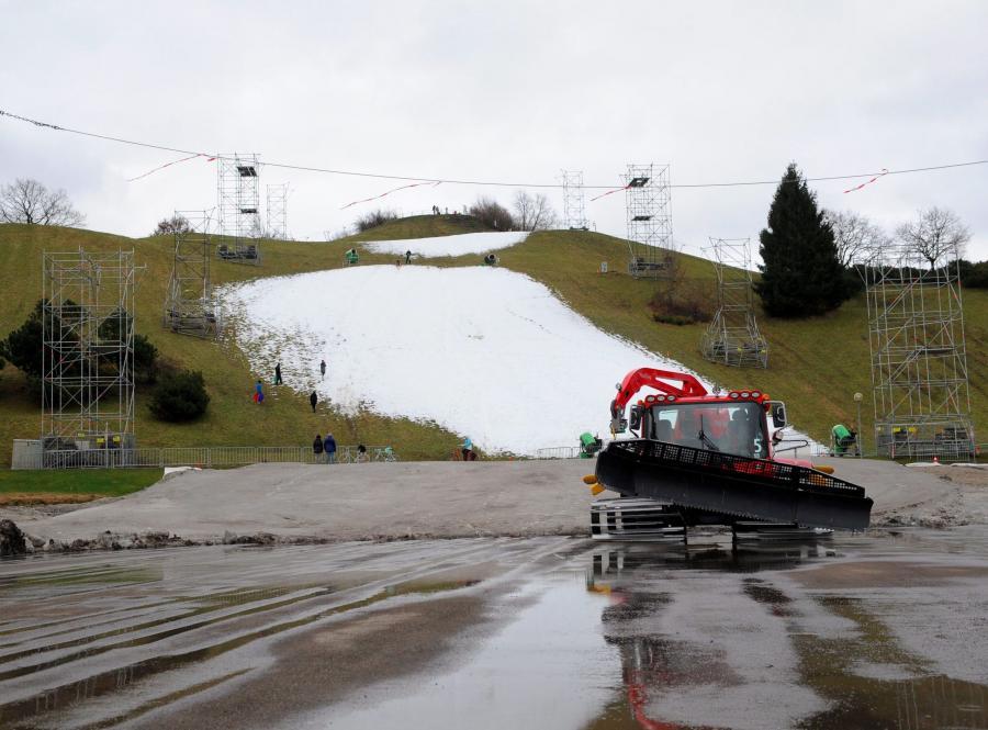 W Monachium zabrakło śniegu